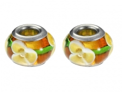 2PCS Stainless Steel Bead For Jewelry PAT-238