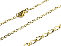 Small Stainless Steel Gold Chain CH-070B