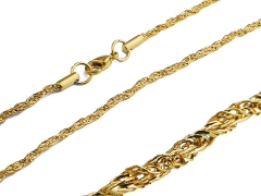 Small Stainless Steel Gold Chain CH-071B