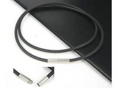 3mm Rubber Cable with Stainless Steel Closure CH-003-R3