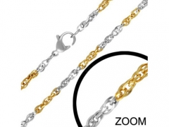 Stainless Steel Two Tone Chain CH-050A