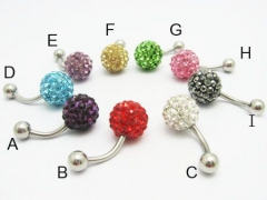 1 Piece Stainless Steel Belly Ring BELLY-002