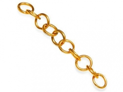 10 pcs Stainless Steel Jump Rings Gold Color SPA-004