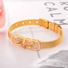 Stainless Steel Bracelet with Copper Charms BS-2033