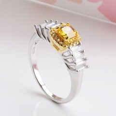 Fashion Copper Ring with CZ Stones 	JZ280
