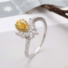 Fashion Copper Ring with CZ Stones 	JZ292