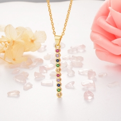 Stainless Steel Necklace with Copper Charms NS-0663
