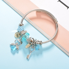 Stainless Steel Bracelet With Alloy Charms BS-1790