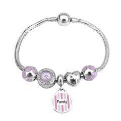 Stainless Steel Charms Bracelet Y250206