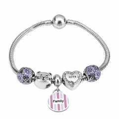 Stainless Steel Charms Bracelet Y250106