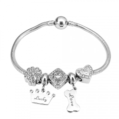 Stainless Steel Charms Bracelet Y250130