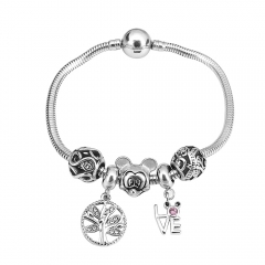 Stainless Steel Charms Bracelet Y245109