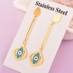 stainless steel enamel evil eye earring  ES-1917