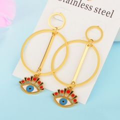 Personality Lucky Eyes Fashion Punk Stainless Steel Earrings XXXE-0068