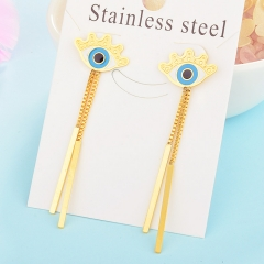 Personality Lucky Eyes Fashion Punk Stainless Steel Earrings XXXE-0063