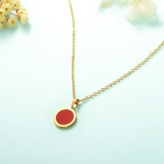 stainless steel cheap enamel necklace    XXXN-0004