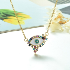 Stainless Steel Chain and Brass Pendant Necklace TTTN-0179