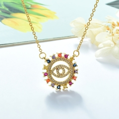 Stainless Steel Chain and Brass Pendant Necklace TTTN-0150