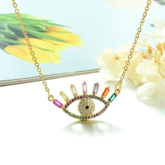 Stainless Steel Chain and Brass Pendant Necklace TTTN-0152