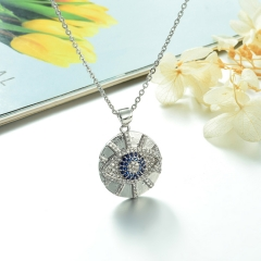 Stainless Steel Chain and Brass Pendant Necklace TTTN-0184A