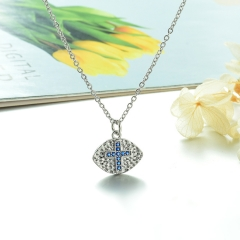 Stainless Steel Chain and Brass Pendant Necklace TTTN-0157A