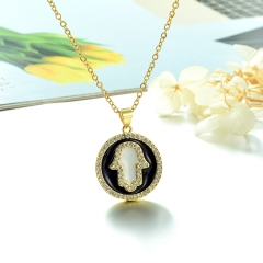 Stainless Steel Chain and Brass Pendant Necklace TTTN-0190