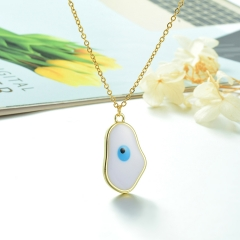 Stainless Steel Chain and Brass Pendant Necklace TTTN-0163A