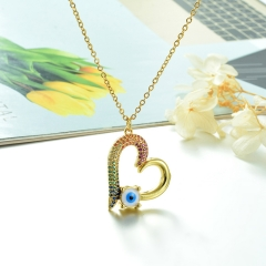 Stainless Steel Chain and Brass Pendant Necklace   TTTN-0156