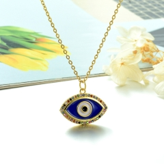 Stainless Steel Chain and Brass Pendant Necklace TTTN-0151B