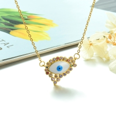 Stainless Steel Chain and Brass Pendant Necklace TTTN-0193