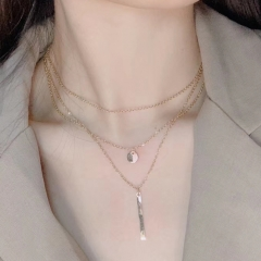 Stainless steel multilayer necklace set for women STAO-2459