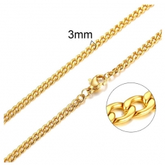 3mm Small Stainless Steel Necklace CH-108