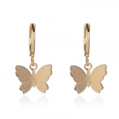 hot women cute butterfly hoop earrings XXXE-0124B