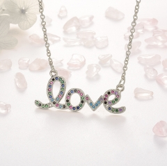 Stainless Steel Necklace with Copper Charms NS-0675A