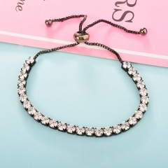 Cubic Zirconia Lady Adjustable Tennis Bracelet  TTTB-0230