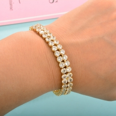 Cubic Zirconia Lady Adjustable Tennis Bracelet  TTTB-0233